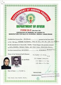 Certificate of Renewal